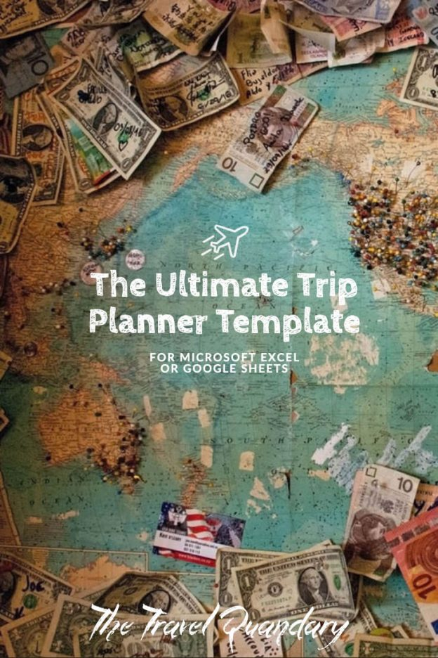 Free Trip Planner Template In Excel Format The Travel Quandary