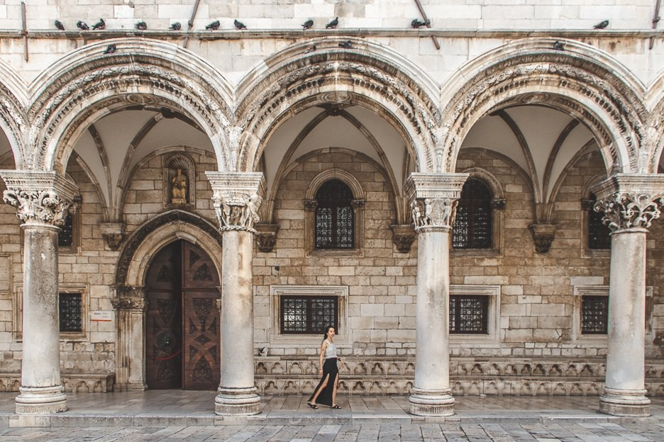 Under the arches of Dubrovnik Old Town