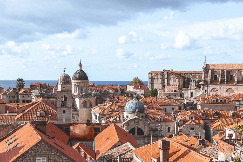 Reminiscent of a scene from Game of Thrones, the roofs of Dubrovnik Old Town