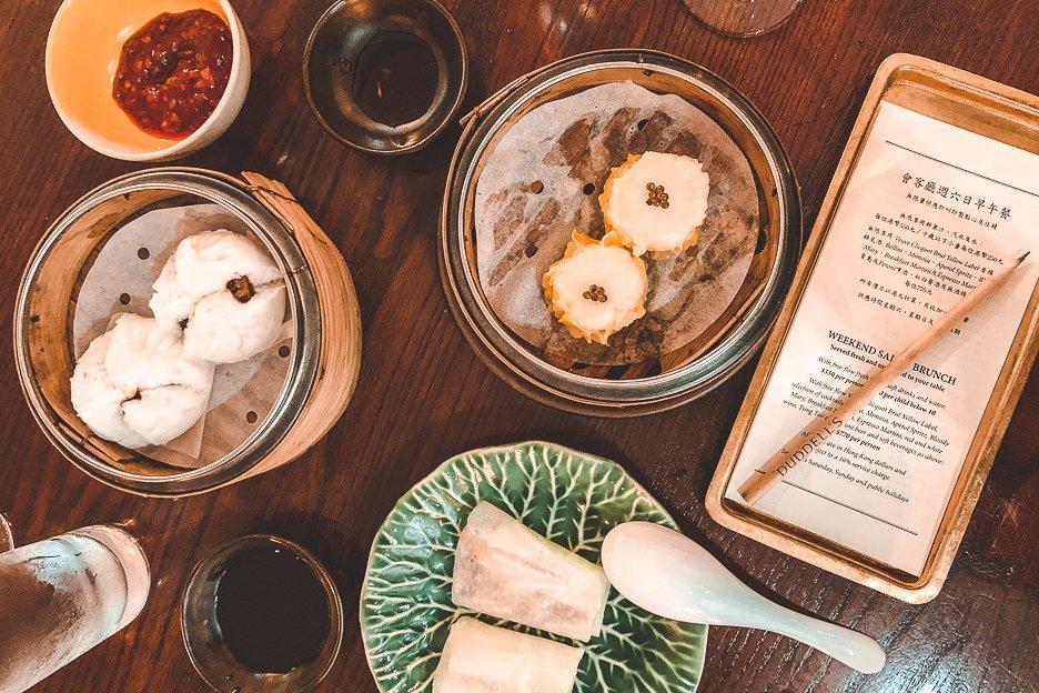 Fancy bottomless brunch Dim Sum at Duddell's, Hong Kong