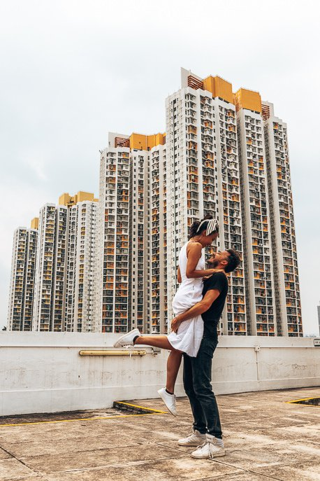 A couple dance on the rooftop of Jockey Creative Club Arts Centre - How to spend 4 days in Hong Kong