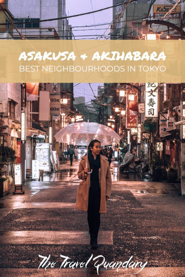 Pin to Pinterest | walking through Asakusa Tokyo neighbourhood at night