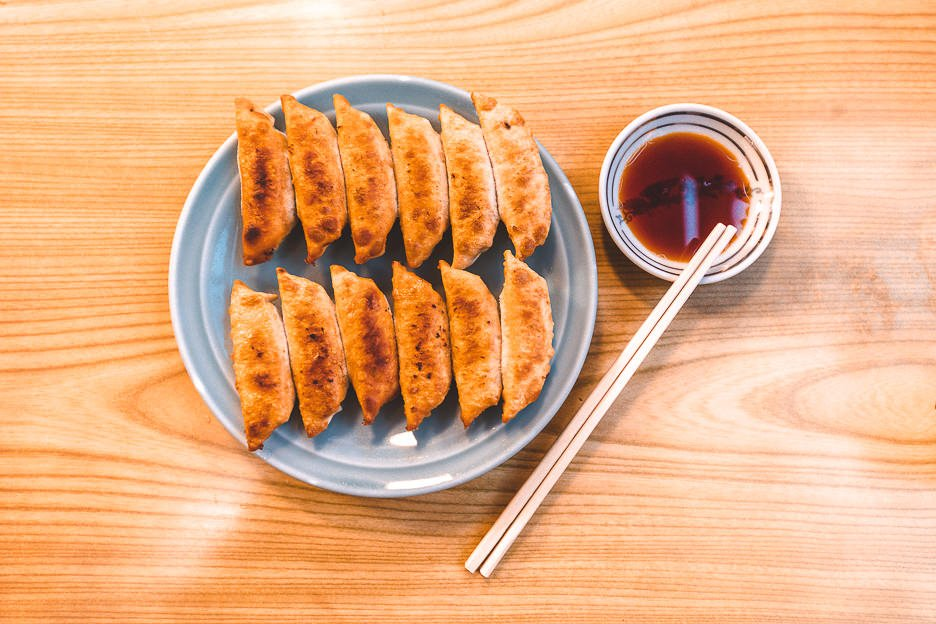 Perfectly crispy gyoza at Gyozano Osama | Asakusa where to eat