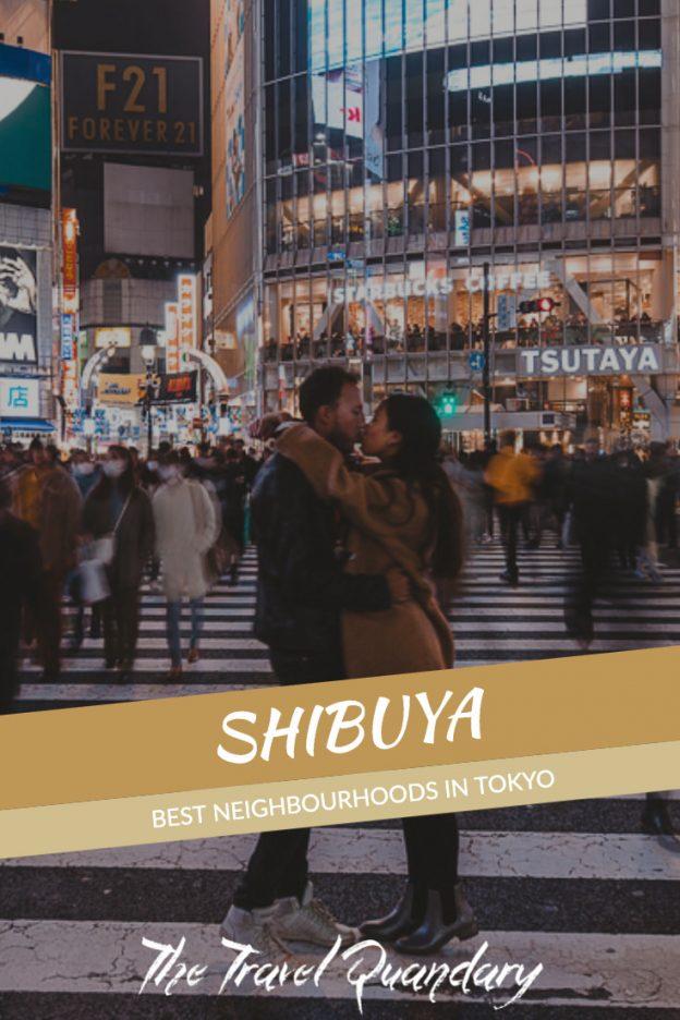 Pin to Pinterest: Shibuya Crossing at night