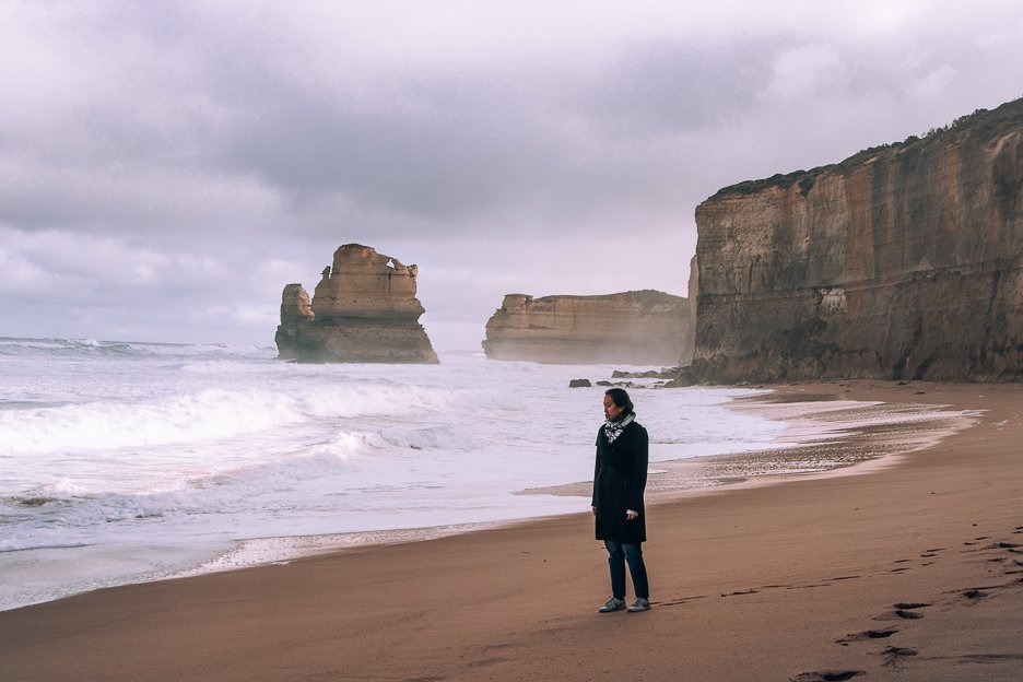 Standing on Gibson Beach - Princetown | Beaches in Victoria