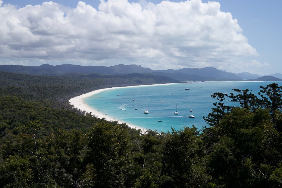 View of Whitehaven Beach from Whitehaven Lookout | Beach Destinations Australia