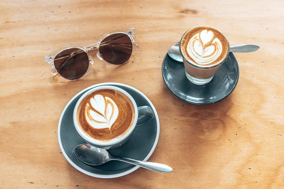 Flat white and piccolo at Good Day Coffee | Tugan, Gold Coast Australia