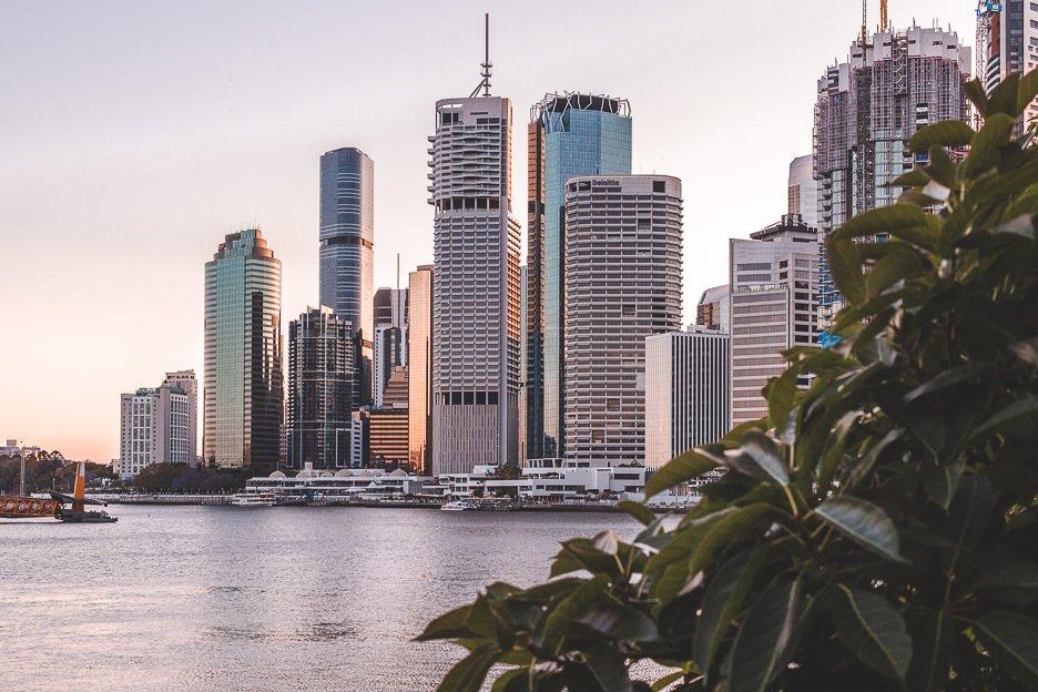 Dusk over Brisbane CBD snapped from Howard Smith Wharves