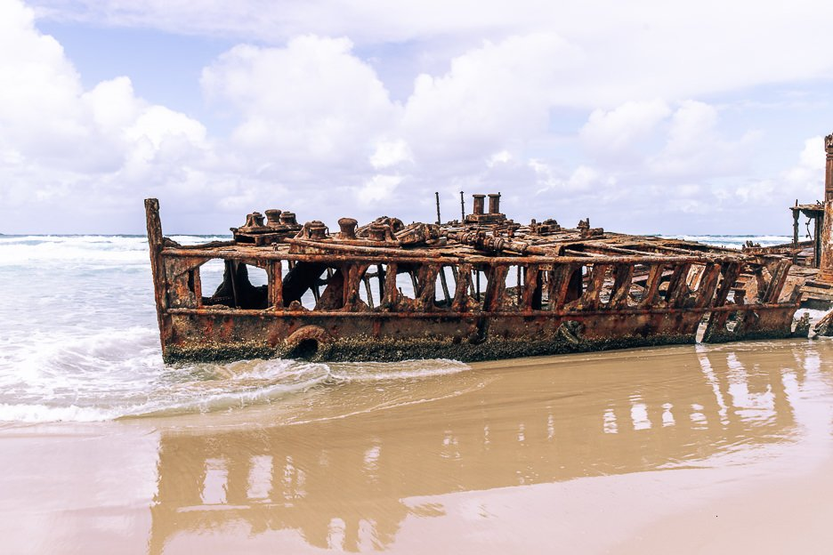S.S. Maheno Shipwreck on east coast of Fraser Island