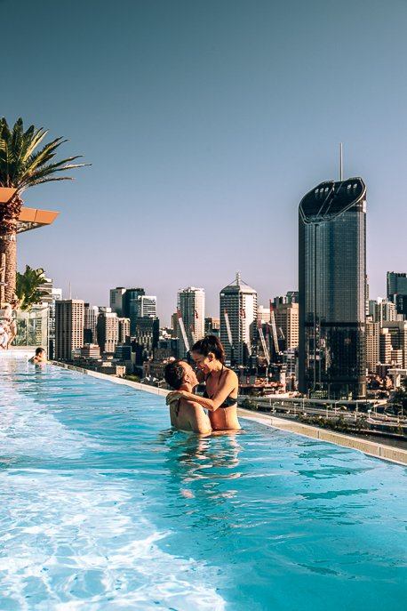 Rooftop infinity pool at Emporium Hotel South Bank