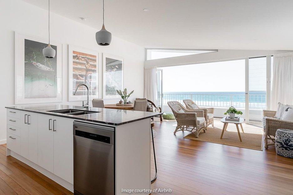 Beachfront Duplex, Bilinga | Airbnb Gold Coast Australia
