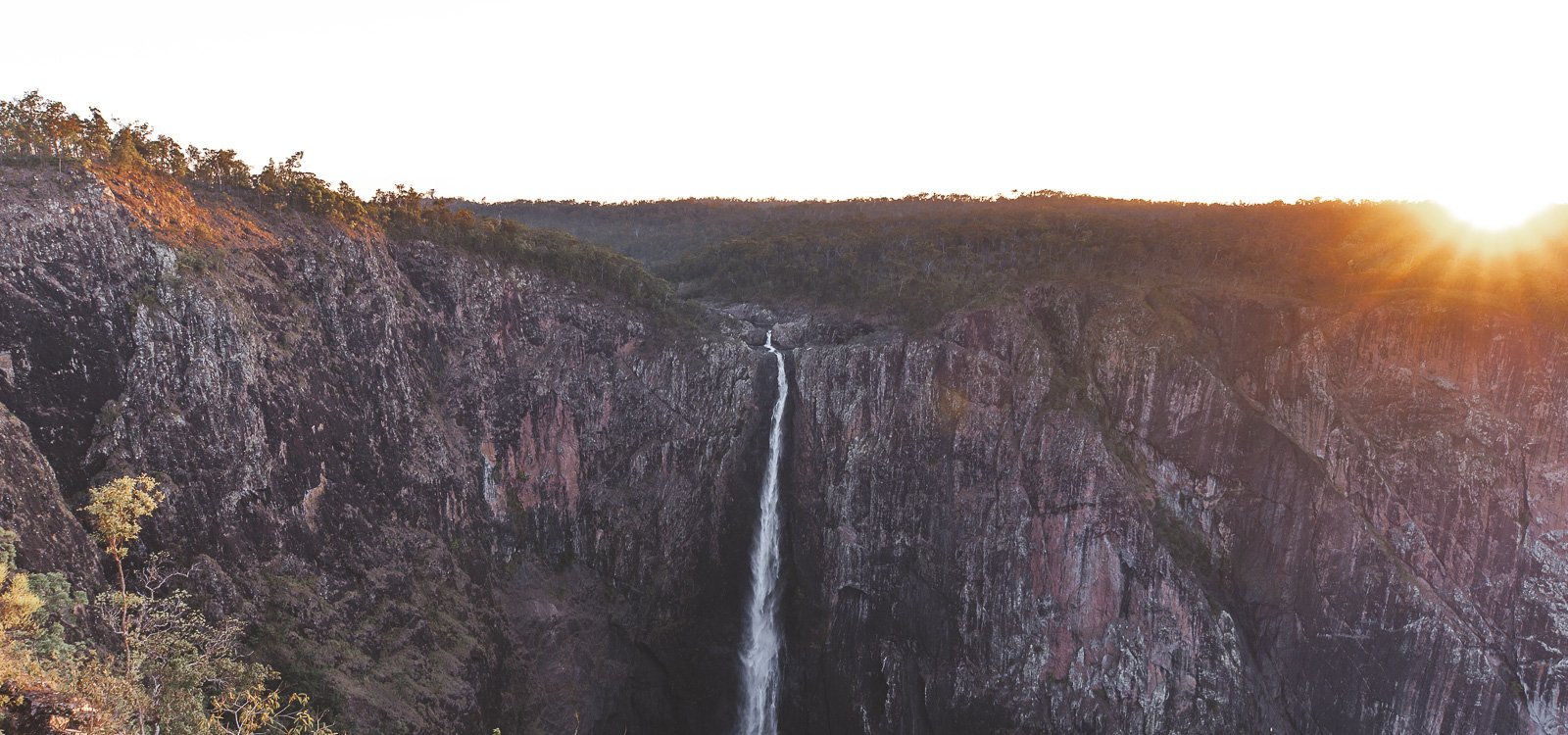 Sunset over Wallaman Falls, tropical north Queensland