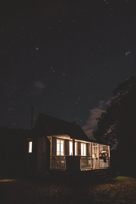 Stars at night overhead Palmer & Gunn