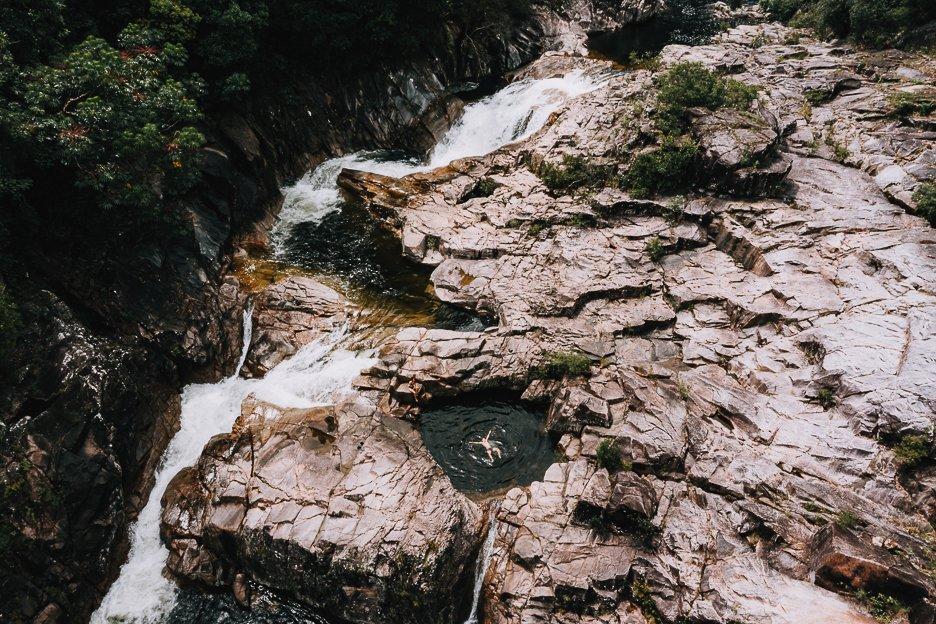 Swimming at Clamshell Falls, Far North Queensland