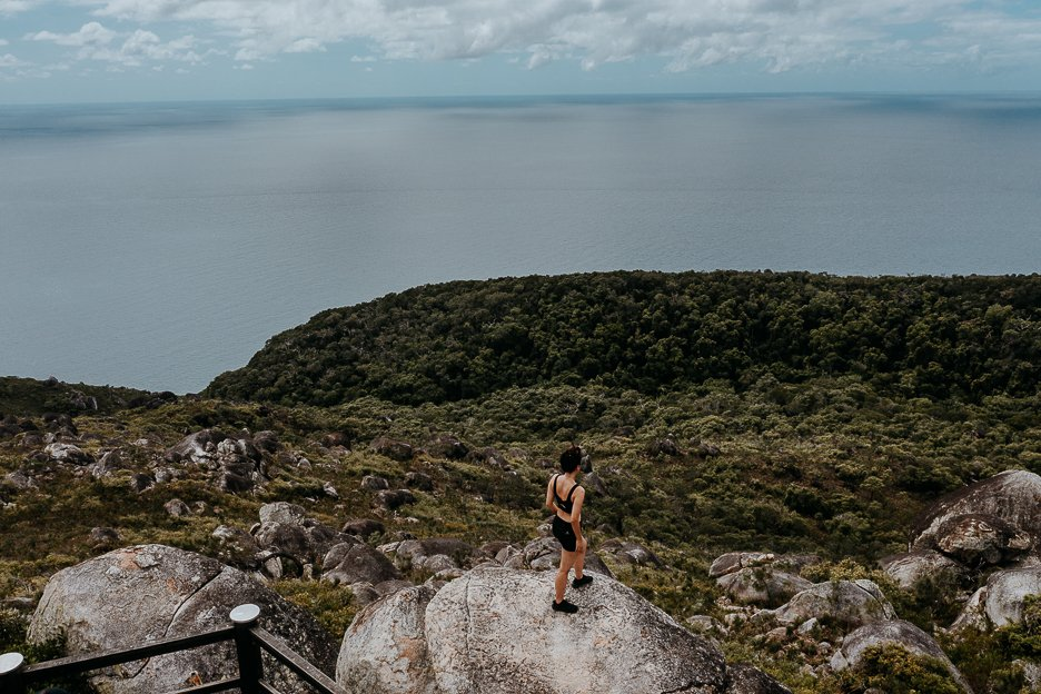 The lookout from the Summit Hike path on Fitzroy Island