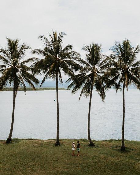 Under the palm trees at Rex Smeal Park, Port Douglas