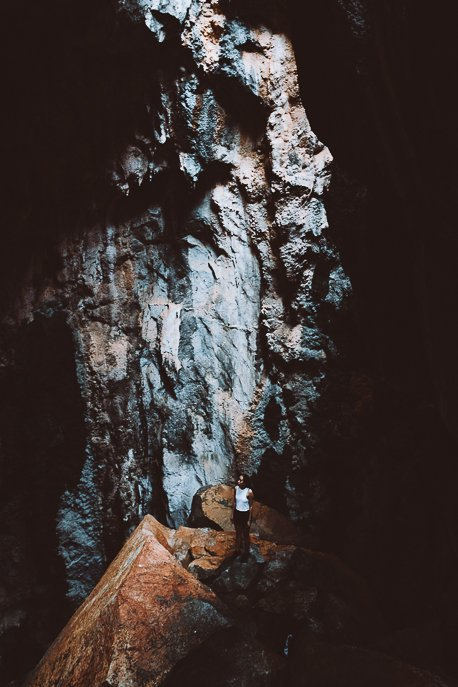 Inside one of the Chillagoe Caves