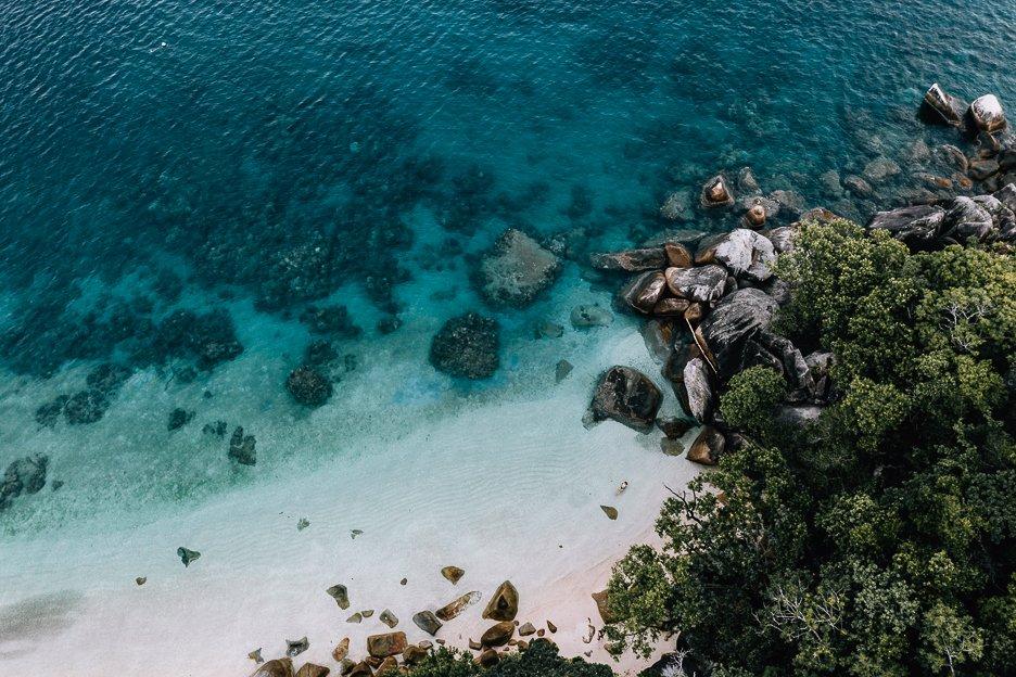 Aerial shot of Nudey Beach, Fitzroy Island